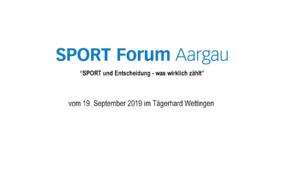 SPORT FORUM Aargau 2019